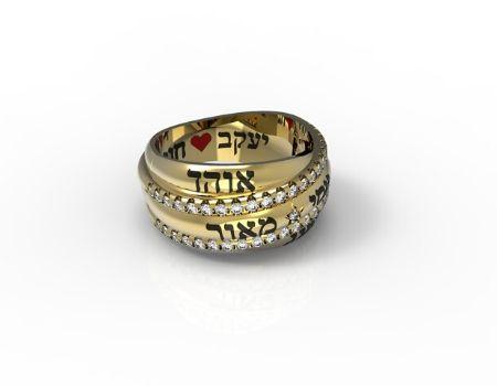 טבעת חותם לאישה זהב - תכשיטי שמות