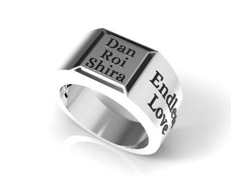 טבעת חותם לגבר - תכשיטי שמות