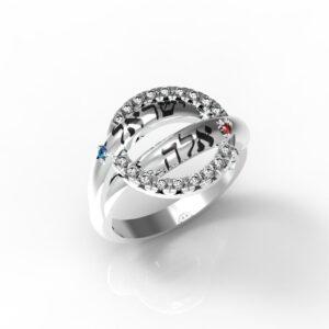 טבעת חותם לאישה תכשיטי שמות