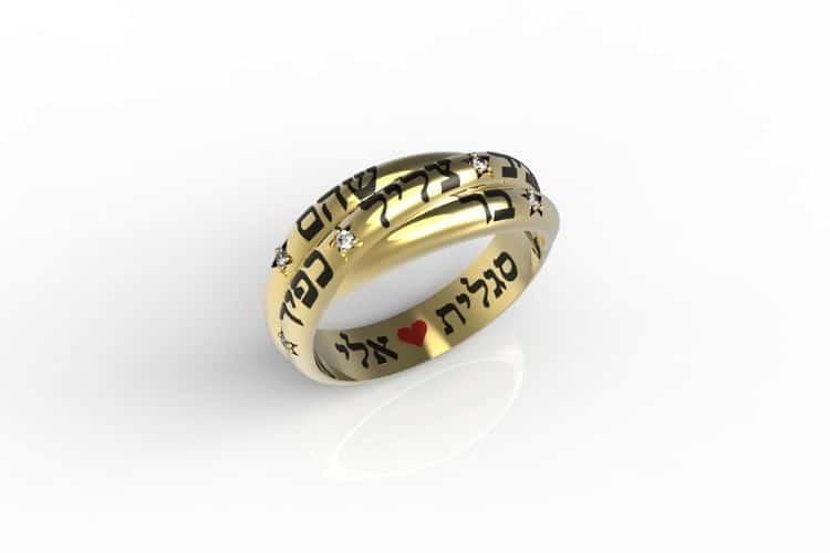 <h3>האם הטבעת עם שמות הילדים מיועדת רק לאימא?</h3>