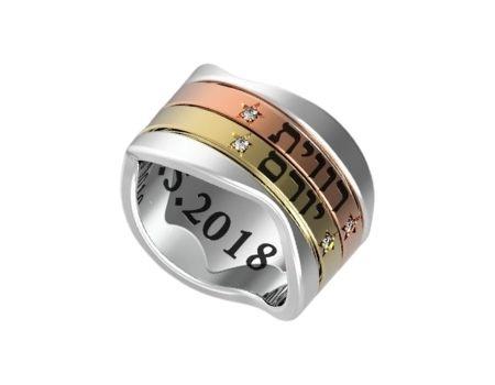 טבעת עם חריטה אישית תכשיטי שמות טבעת עם שם טבעות שמות טבעת עם שמות הילדים